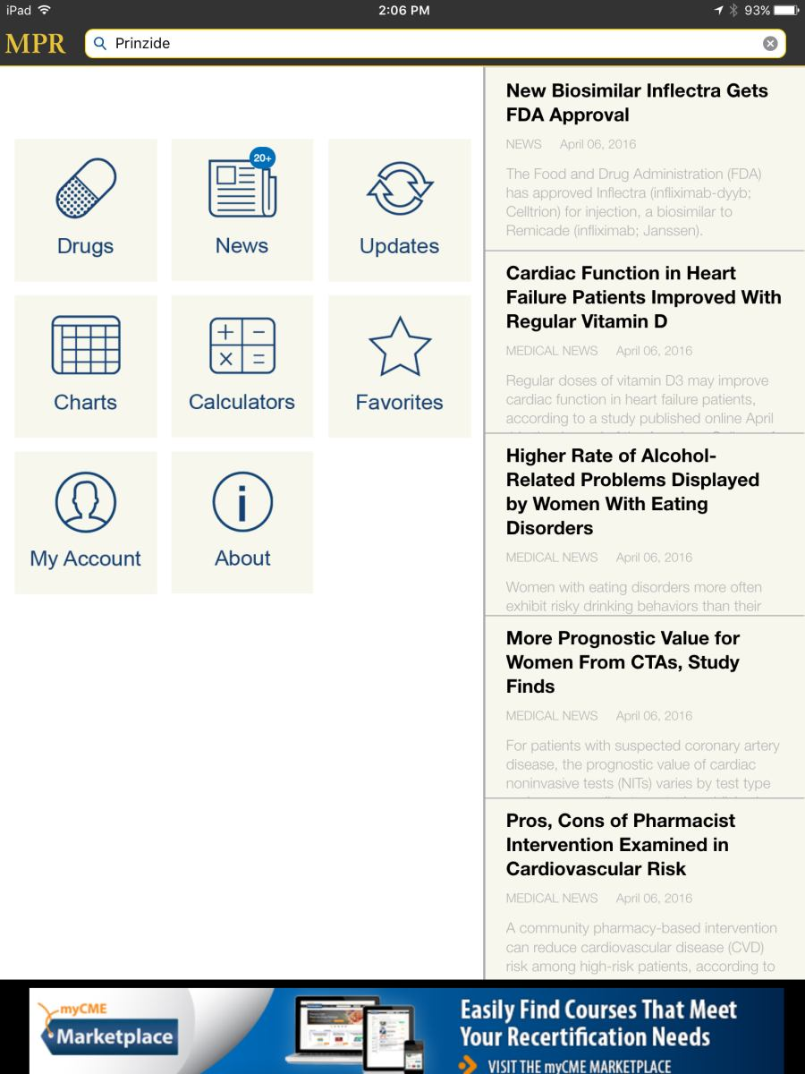 Review of the MPR app, a drug reference app for clinicians