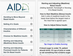 Accurate Insulin Decisions app, designed for primary care by the Endocrine Society