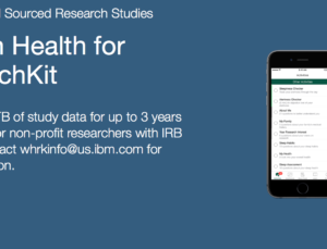 IBM Watson Health providing free storage for researchers working on ResearchKit apps
