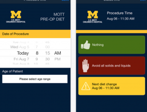 U of Michigan Releases PreOperative Diet app for patients