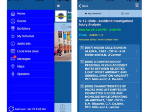 ASMA medical meeting app is a great example for other healthcare events
