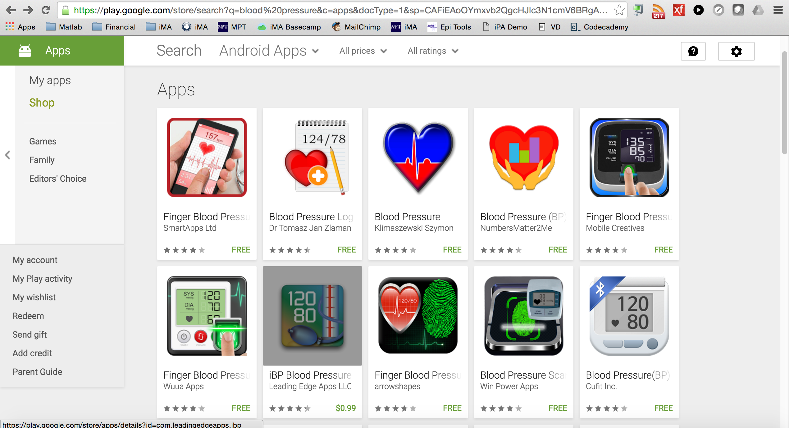 Top Android blood pressure apps overrun with junk apps
