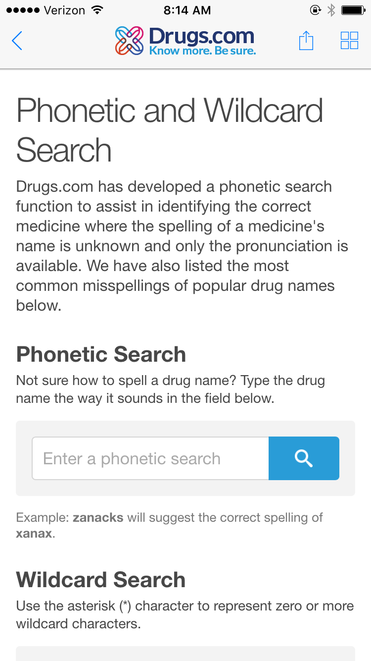 Is the Drugs com app as good as Epocrates for drug info?