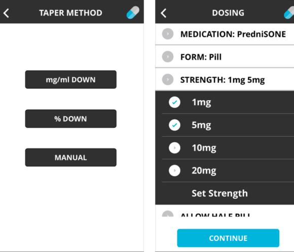 steroid taper app