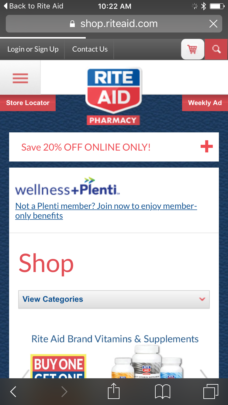 Rite Aid app: Keeps it simple with basic pharmacy services