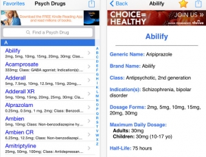 Psych Drugs and Medications app focuses on drugs for psychiatric conditions