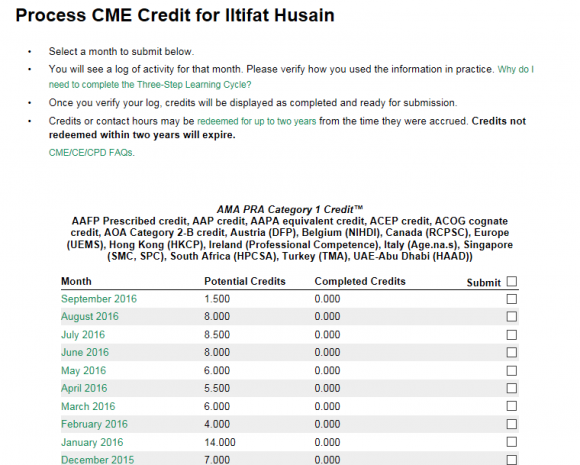 cme credits through EPIC