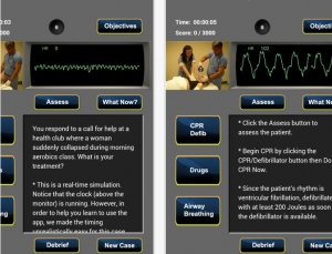 Review of ACLS Sim 2016 app, a case based method to learning code situations