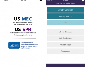 CDC offers excellent update to their Contraception app for clinicians