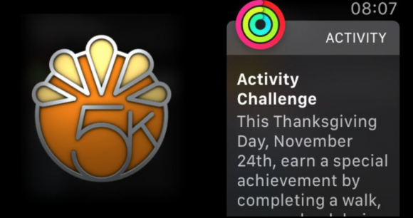 apple thanksgiving badge