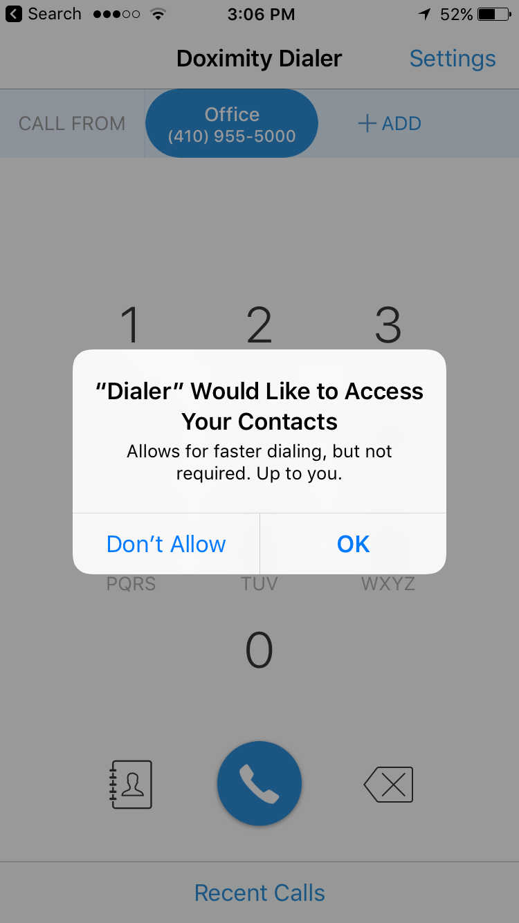 Doximity Dialer app is a useful tool when you're on call
