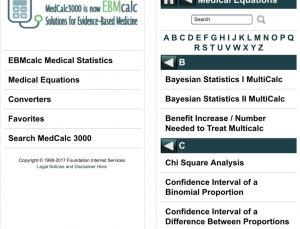 Review of EBMcalc Statistics app, using evidence based stats for better patient care