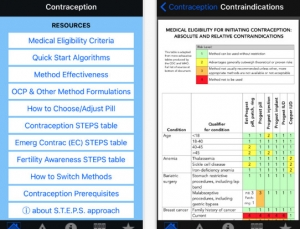 Review of Contraception Point of Care app, a medical app for prescribing contraceptives