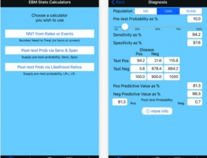 EBM Stats Calc Brings Evidence-Based Medicine to Your iPhone