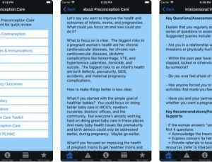 Preconception Care: App for Counseling Prior to Pregnancy