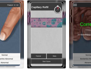 Capillary Refill Trainer App Review: Game-Based Simulation to Teach a Critical Physical Exam Skill