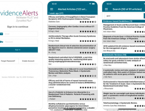 Evidence Alerts App: Customized Best-Evidence Studies to Your Smart Device